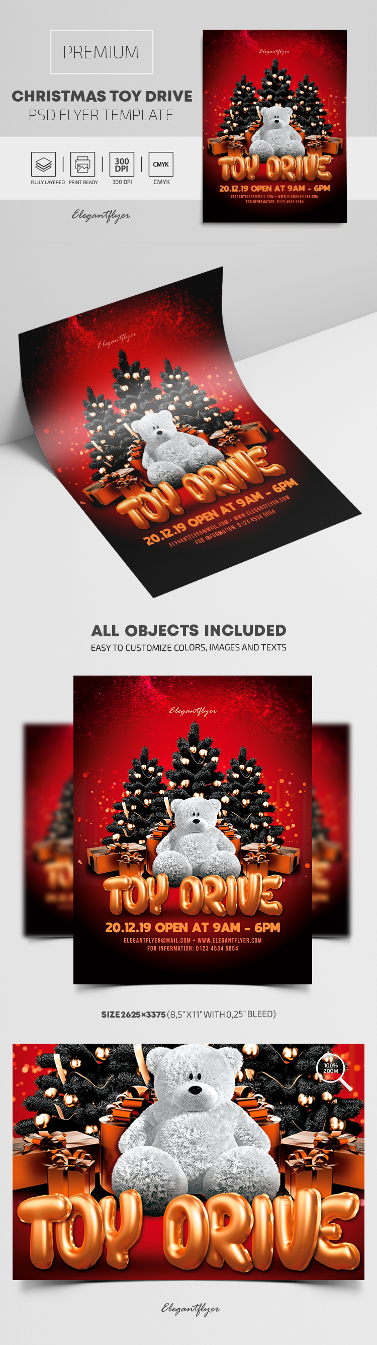 Christmas Toy Drive – Premium PSD Flyer Template
