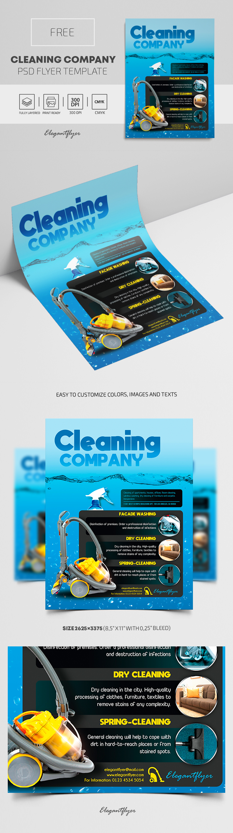 Cleaning Company – Free PSD Flyer Template