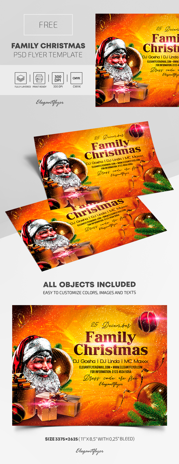Family Christmas – Free PSD Flyer Template