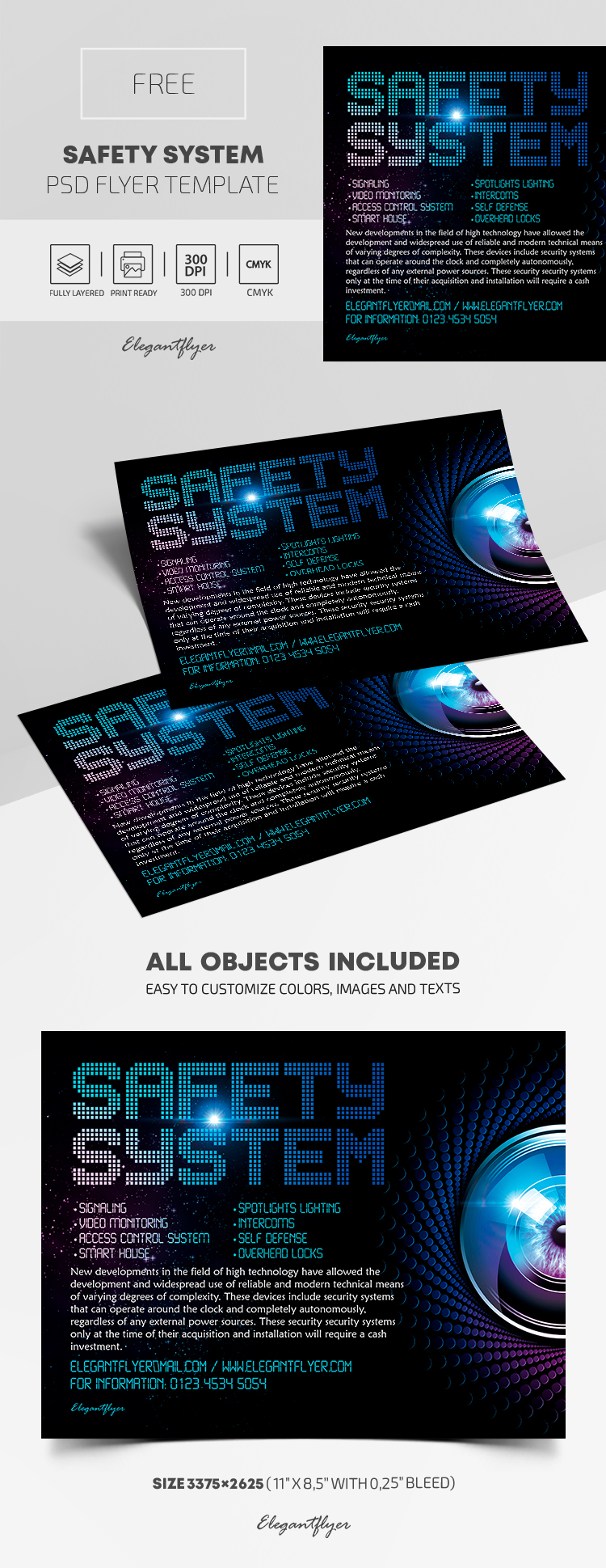 Safety System – Free PSD Flyer Template