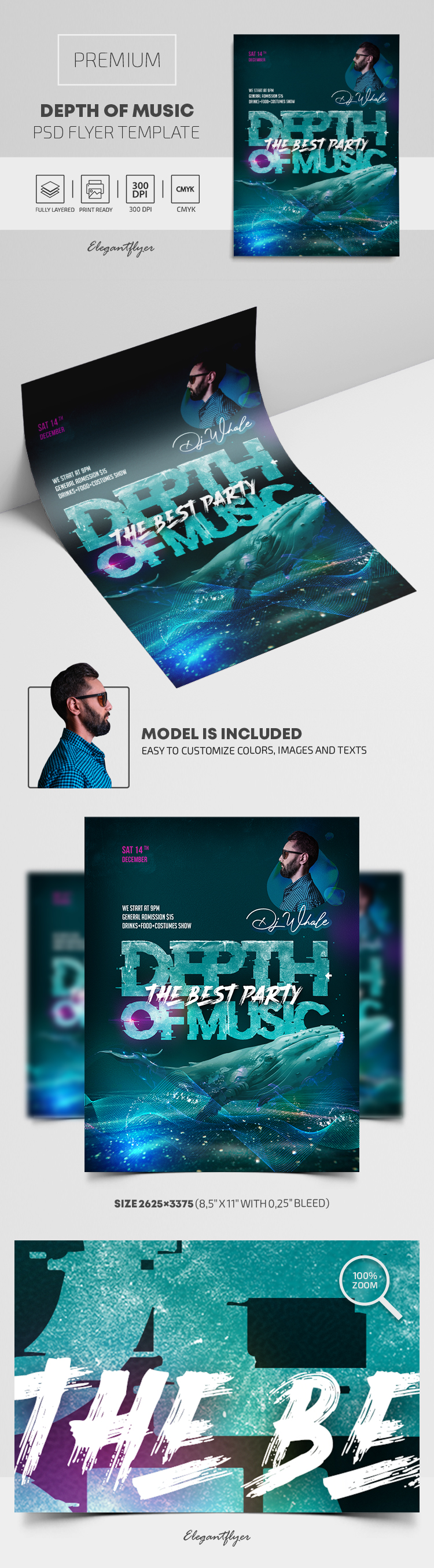 Depth of Music Party – Premium PSD Flyer Template