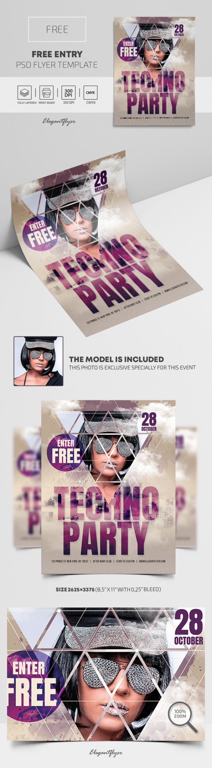 Free Entry – Free PSD Flyer Template