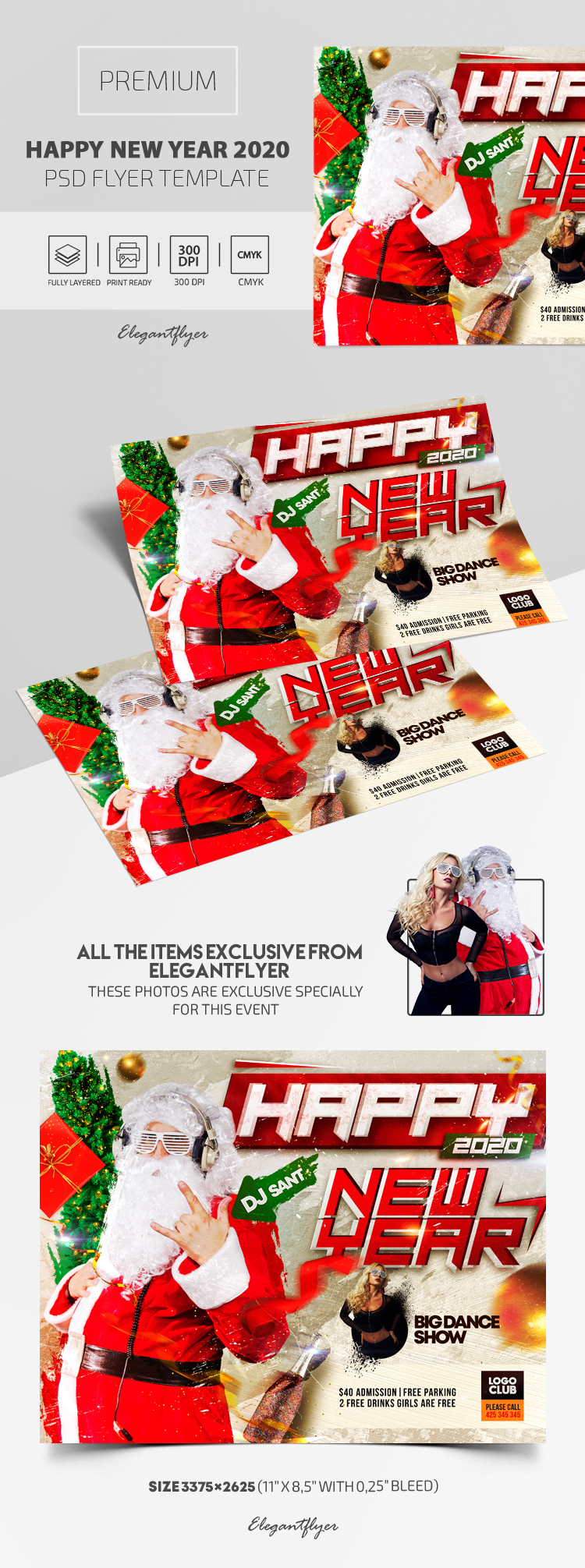 Happy New Year 2020 – Premium PSD Flyer Template