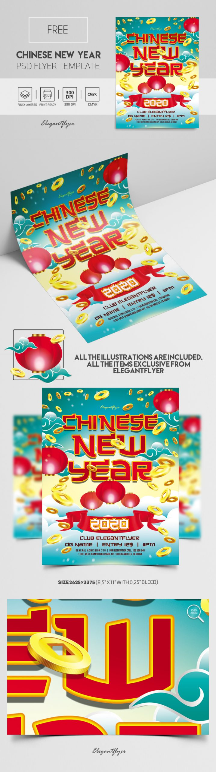 Chinese New Year 2020 – Free PSD Flyer Template