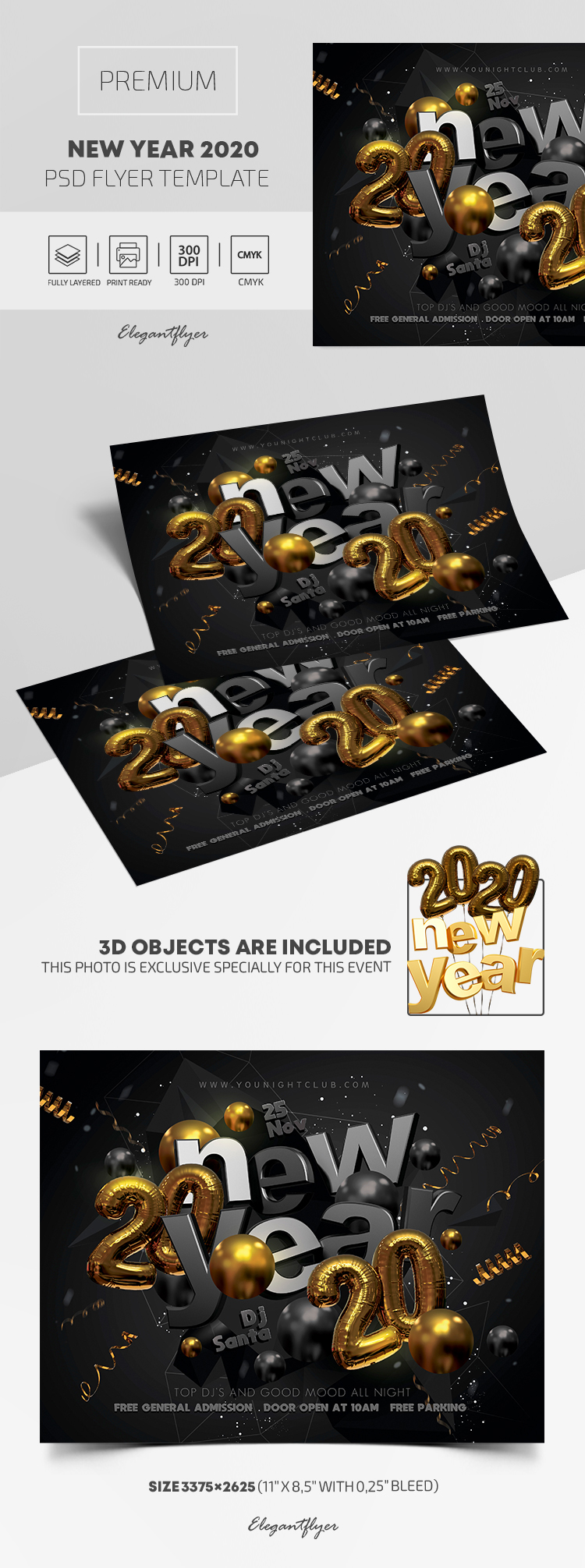 New Year 2020 – Premium PSD Flyer Template