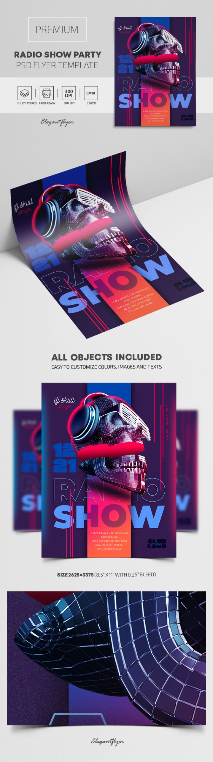 Radio Show Party – Premium PSD Flyer Template