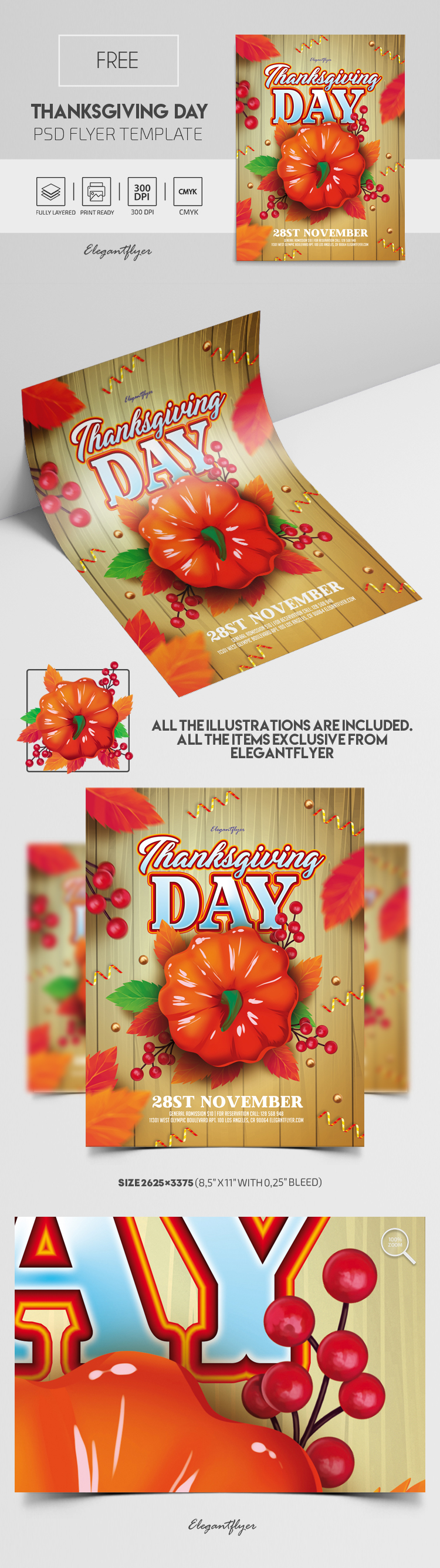 Thanksgiving Day – Free PSD Flyer Template