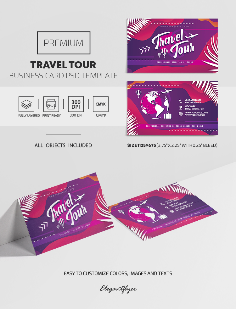 Tours, excursios and more. Join Now – Premium PSD Business Card Template