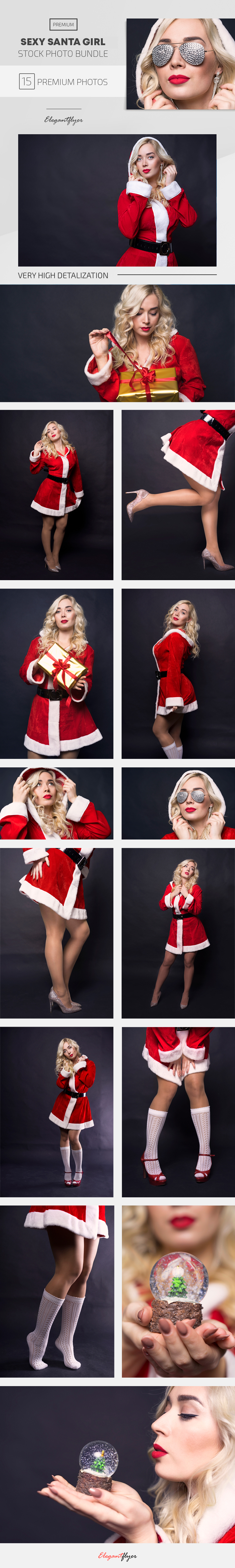 Sexy Santa Girl – 15 Premium Stock Photos Bundle