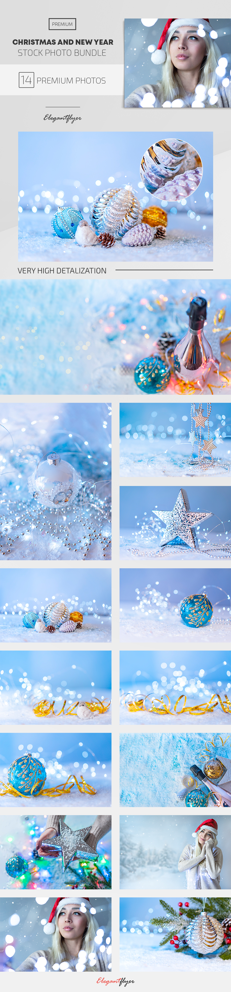 Christmas and New Year – 14 Premium Stock Photos Bundle