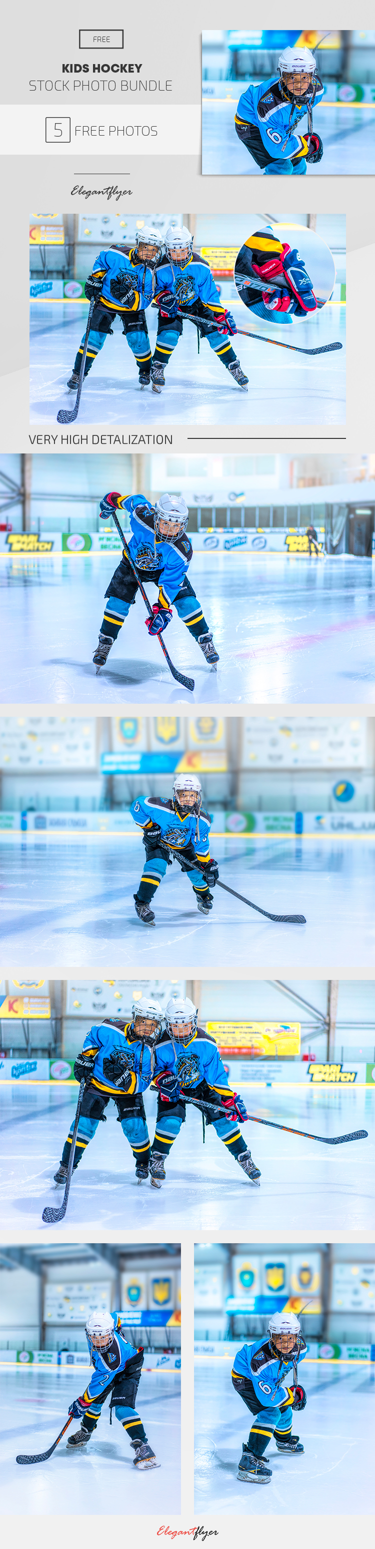 Kids Hockey – 5 Free Stock Photos Bundle