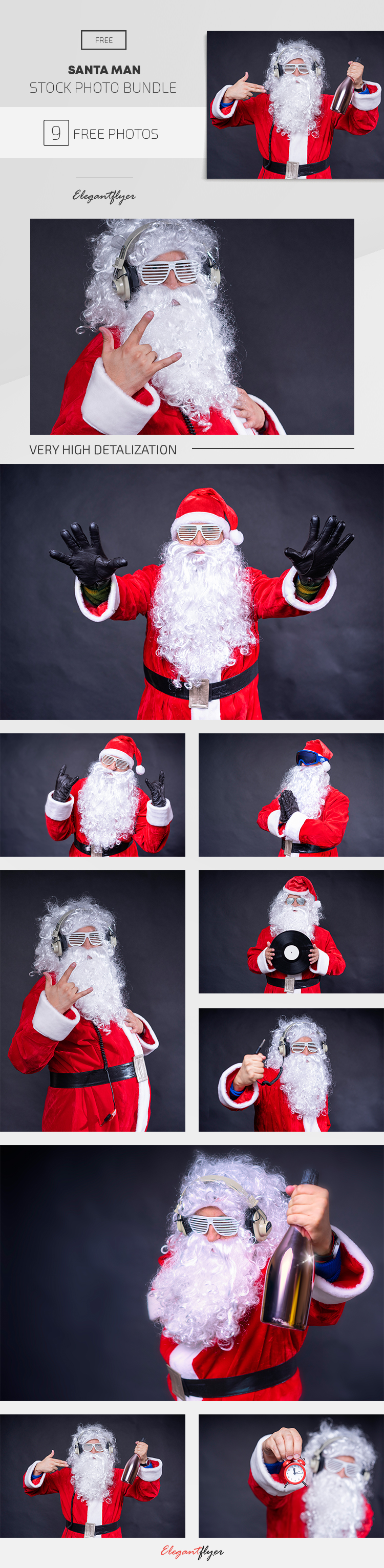 Santa Man – 9 Free Stock Photos Bundle