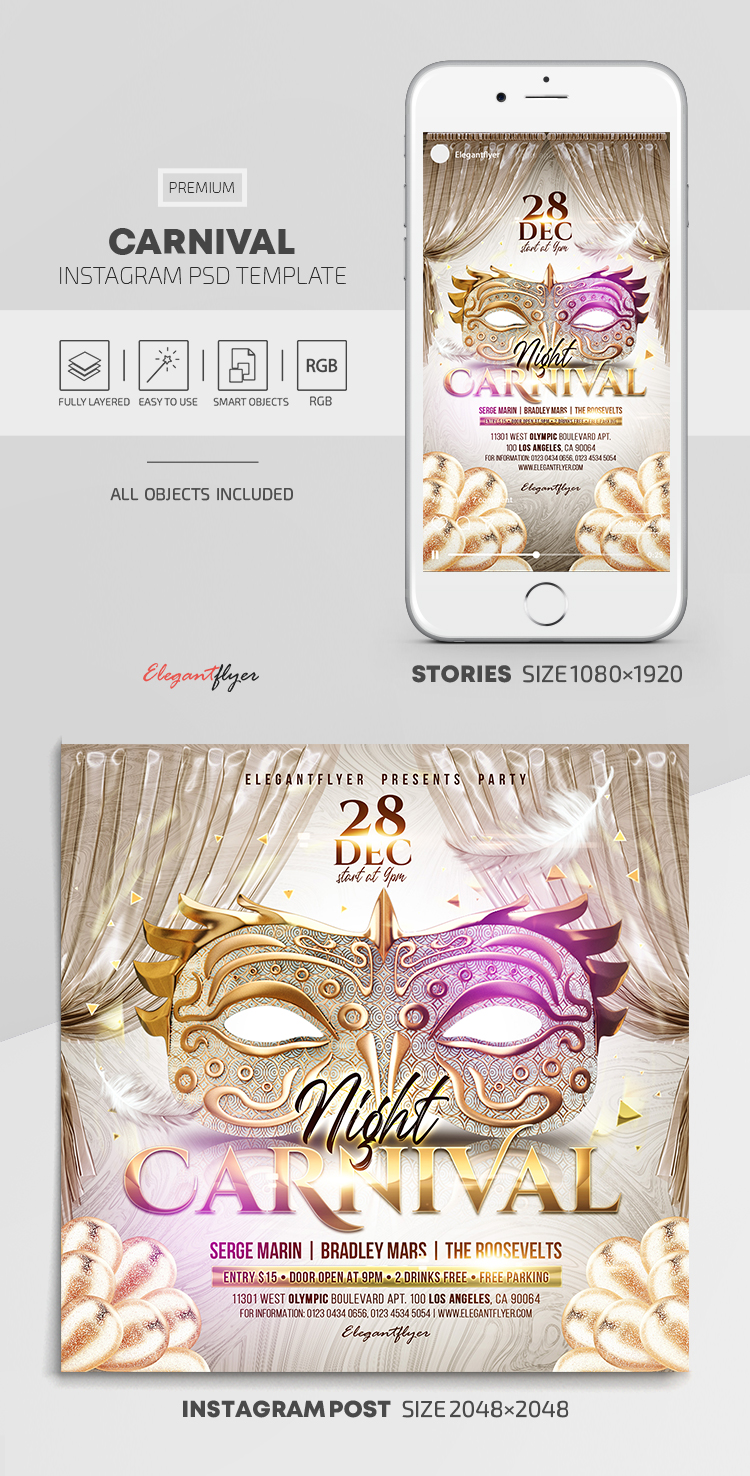Carnival – Instagram Stories Template in PSD + Post Templates