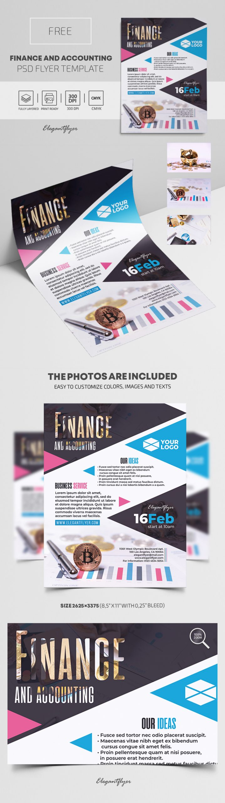 Finance and Accounting – Free PSD Flyer Template
