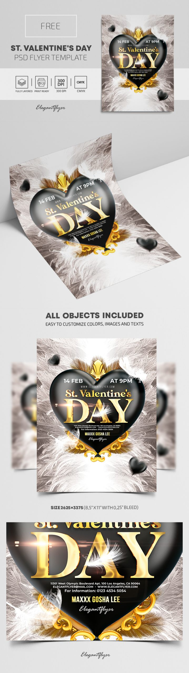 St. Valentine's Day – Free PSD Flyer Template