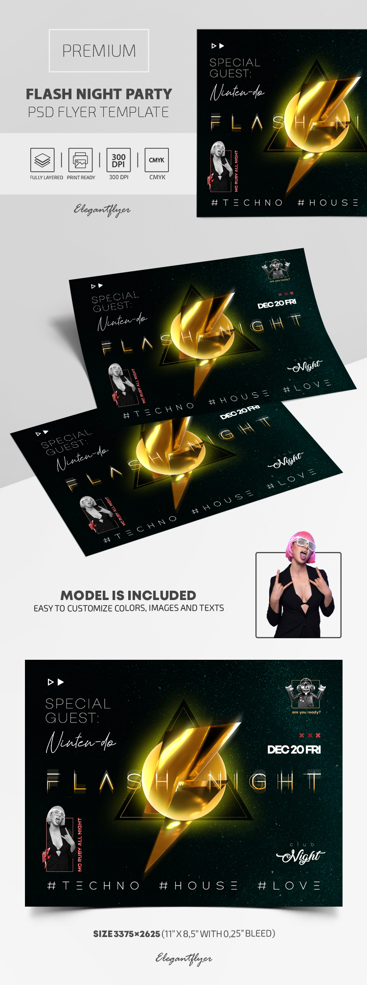 Flash Night Party – Premium PSD Flyer Template
