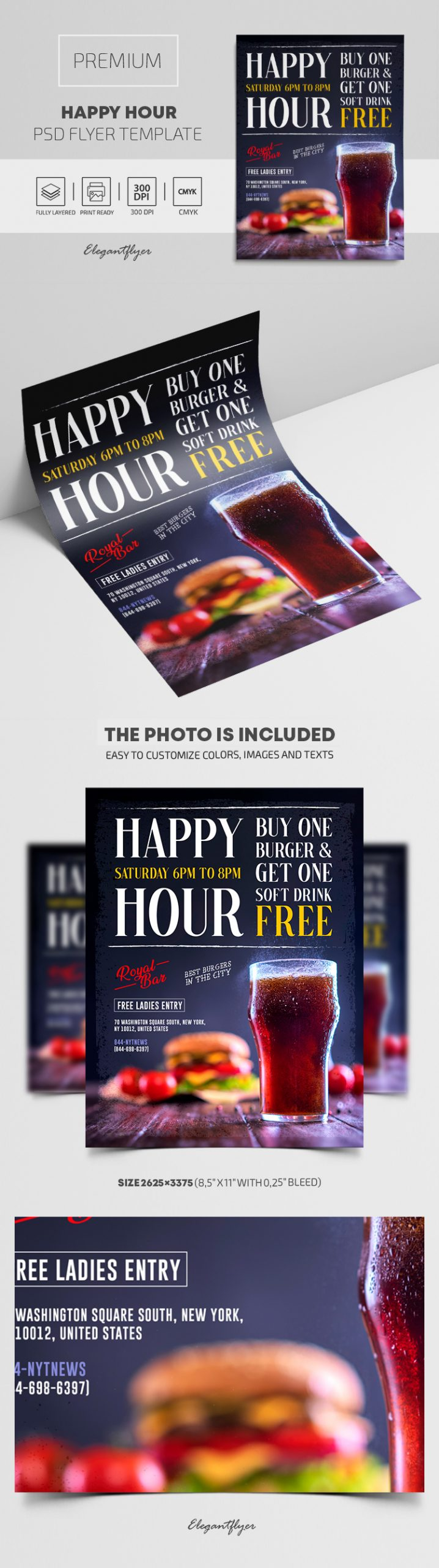 Happy Hours – Premium PSD Flyer Template