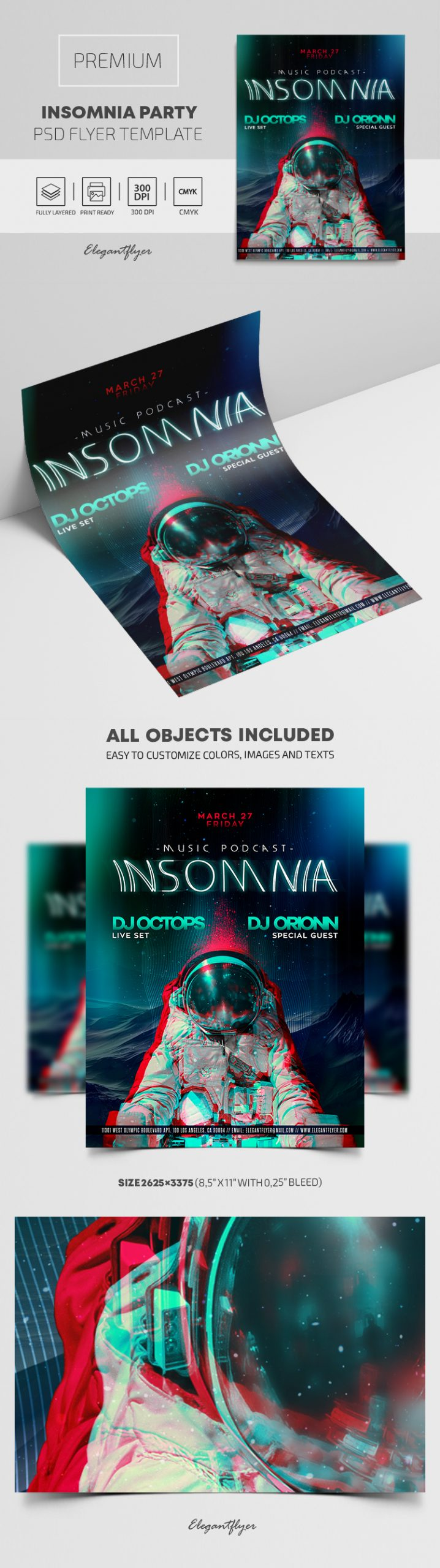 Insomnia Party – Premium PSD Flyer Template