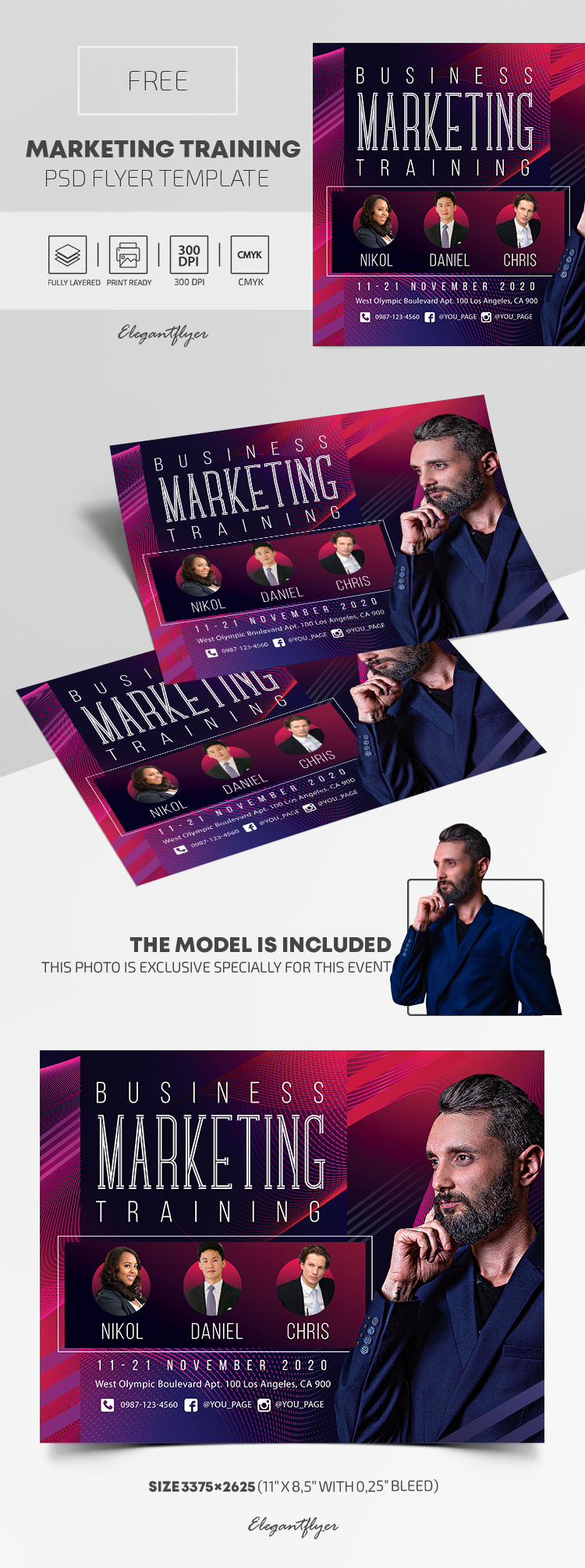 Marketing Training – Free PSD Flyer Template