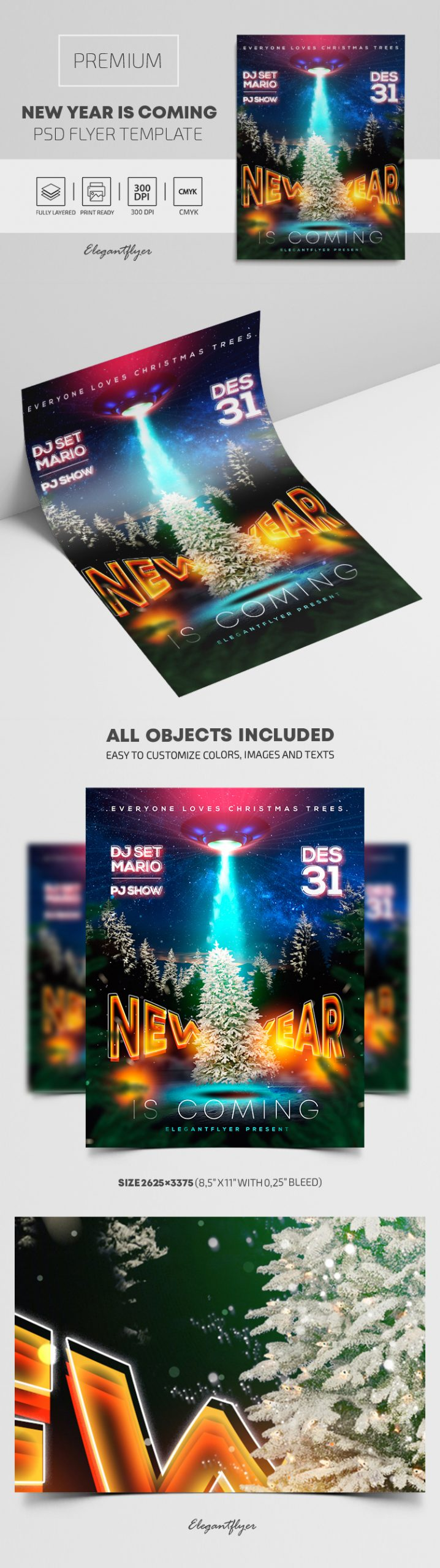 New Year is Coming – Premium PSD Flyer Template