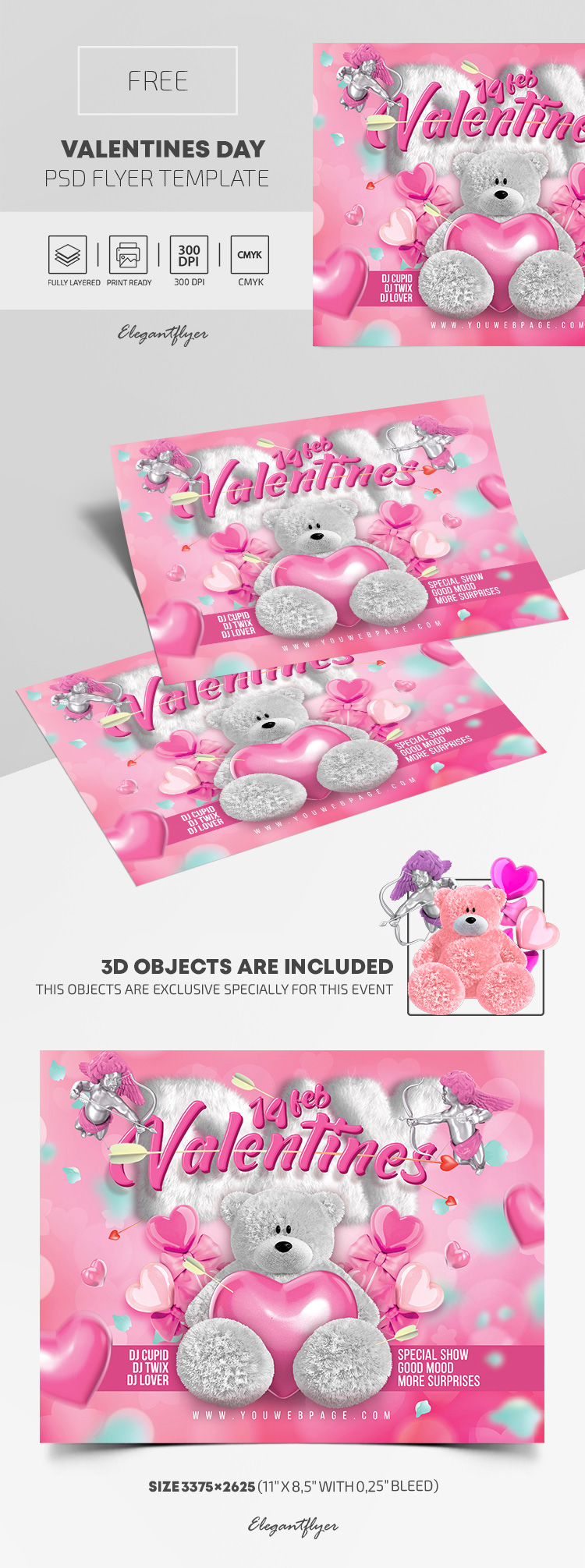 Valentines Day – Free PSD Flyer Template
