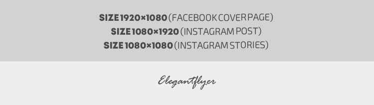 Product Flyer – Animated Instagram Stories + Instagram Post + Facebook Cover