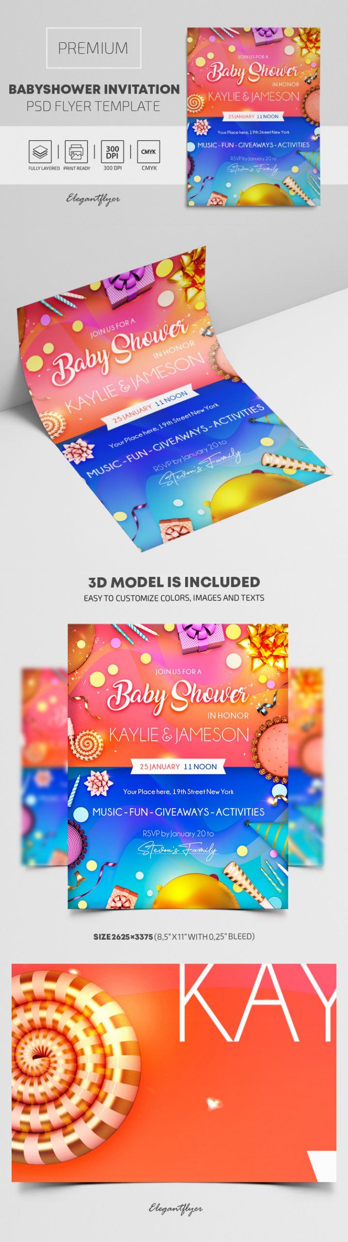Baby Shower – Premium PSD Flyer Template