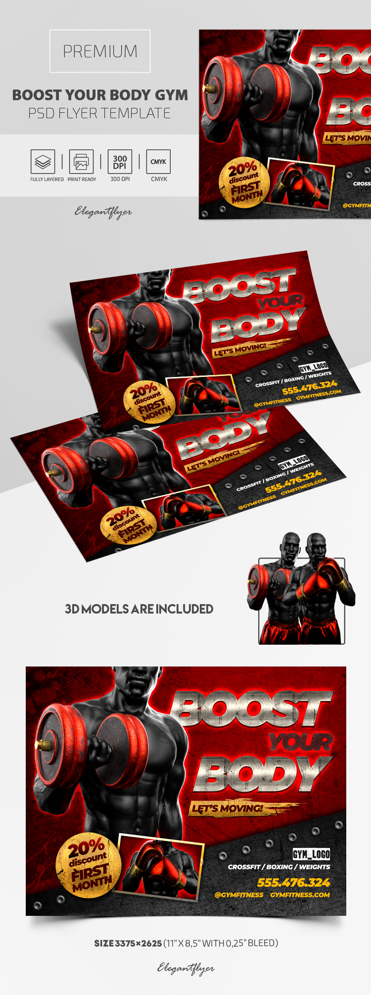 Boost Your Body GYM – Premium PSD Flyer Template
