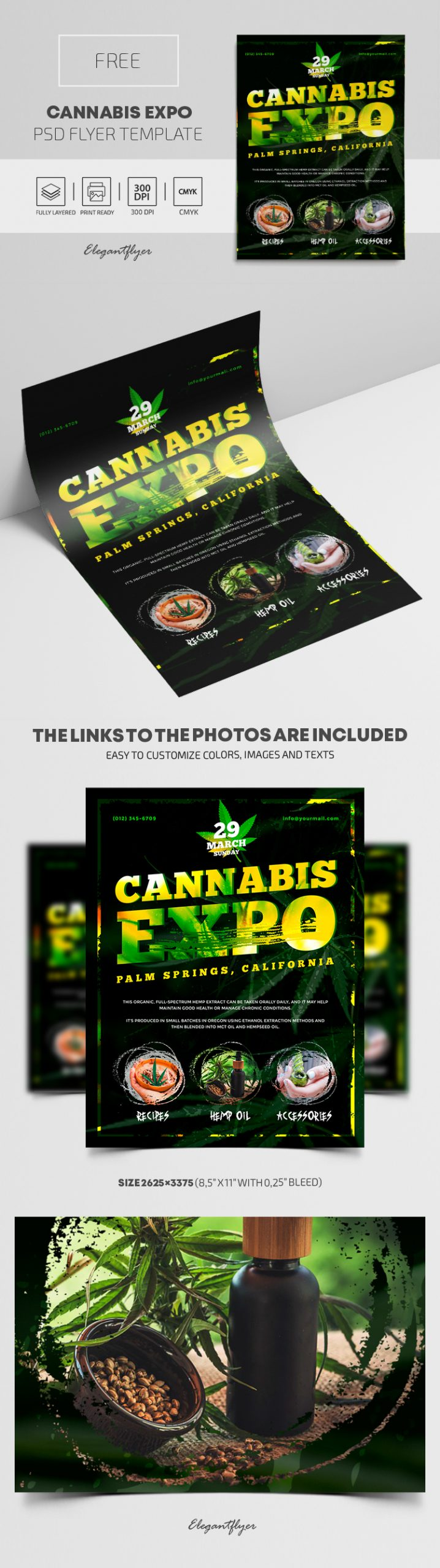 Cannabis Expo – Free PSD Flyer Template