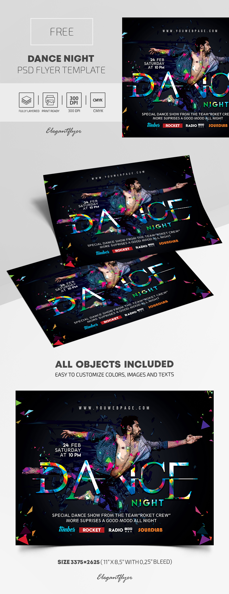 Dance Night – Free PSD Flyer Template