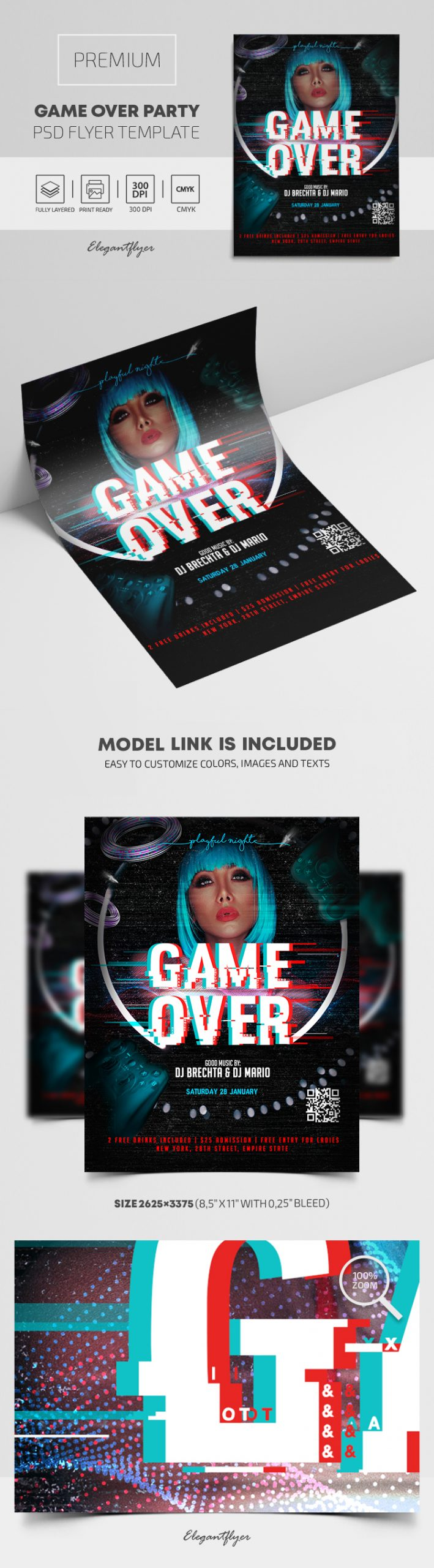 Game Over Party – Premium PSD Flyer Template
