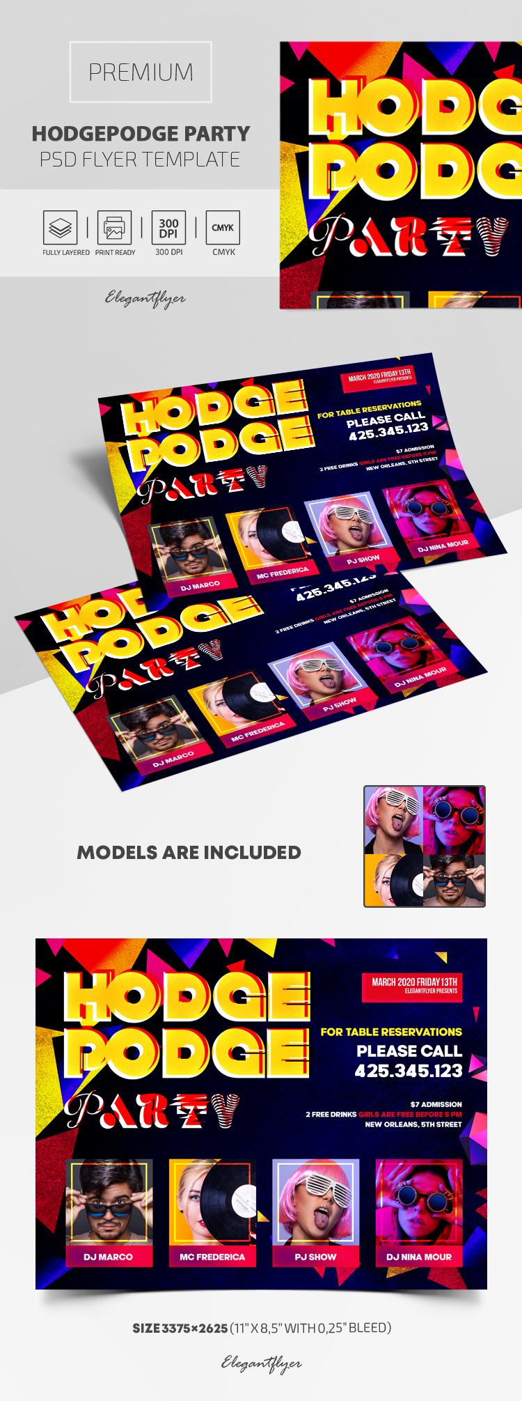 Hodgepodge Party – Premium PSD Flyer Template