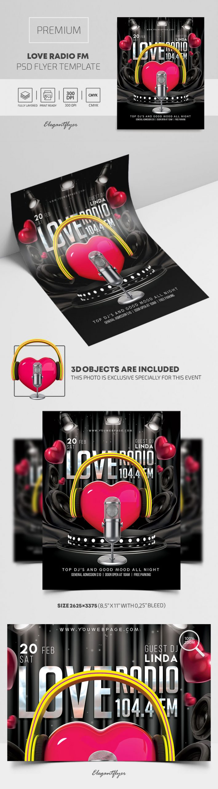 Love Radio FM – Premium PSD Flyer Template