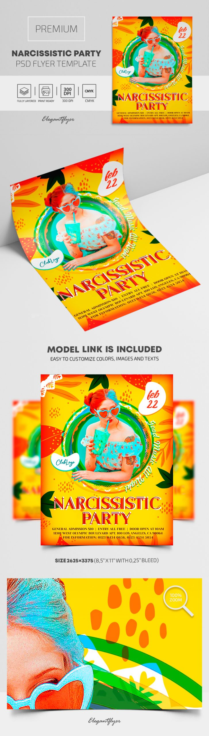 Narcissistic Party – Premium PSD Flyer Template