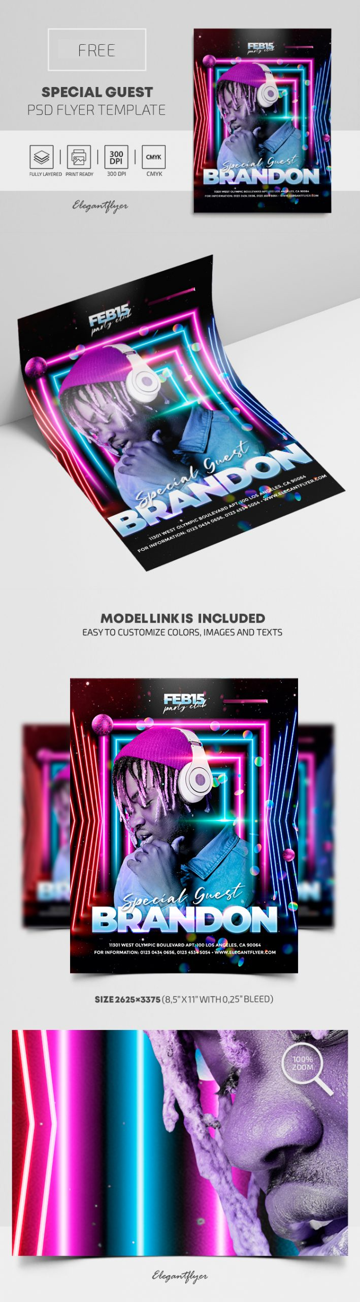 Special Event Guest DJ – Free PSD Flyer Template
