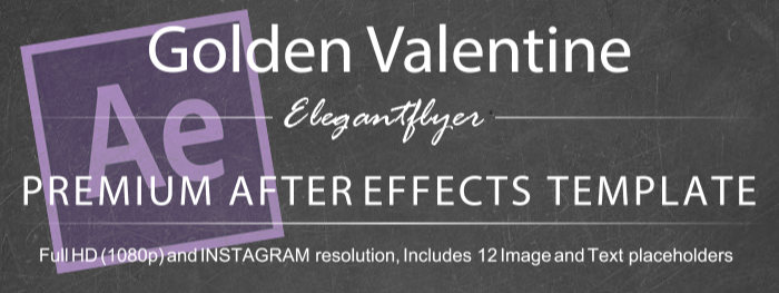Golden Valentine After Effects Template