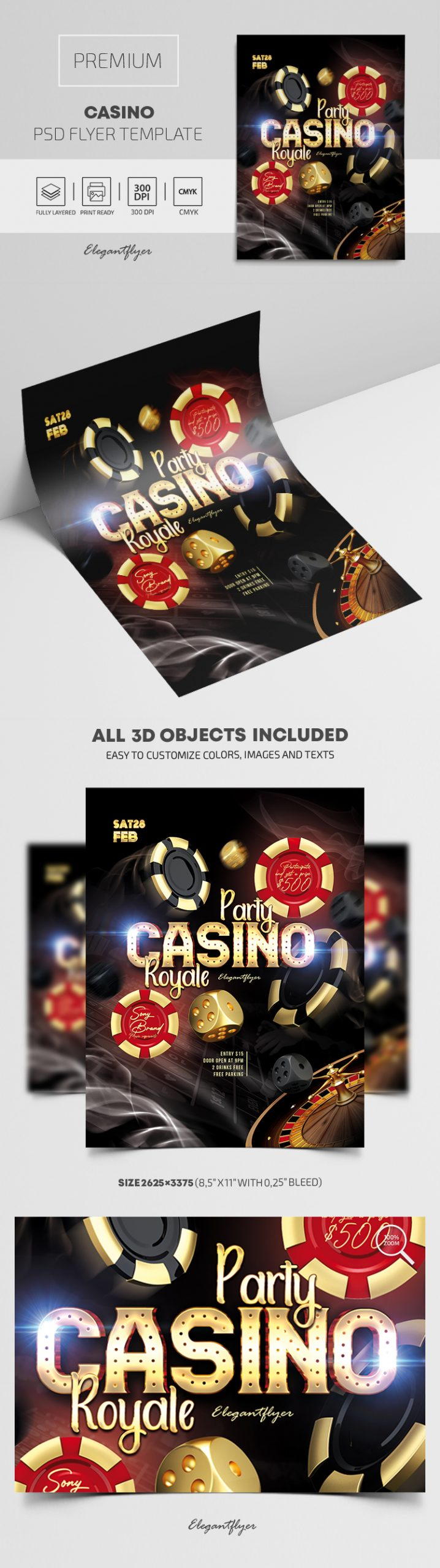 Casino – Premium PSD Flyer Template