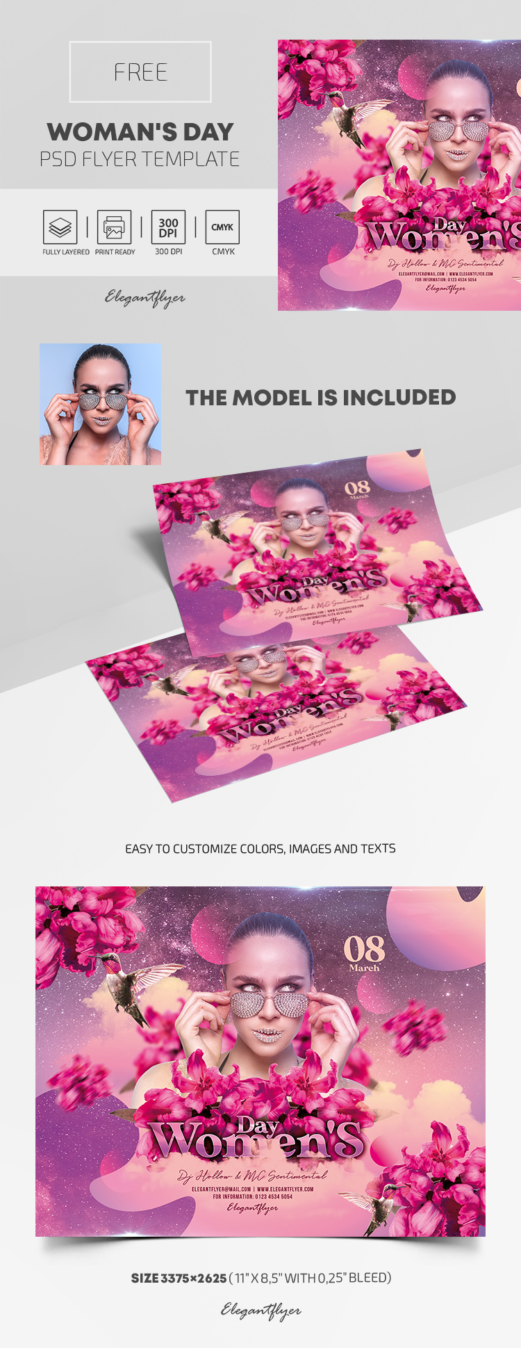 Woman's Day – Free PSD Flyer Template