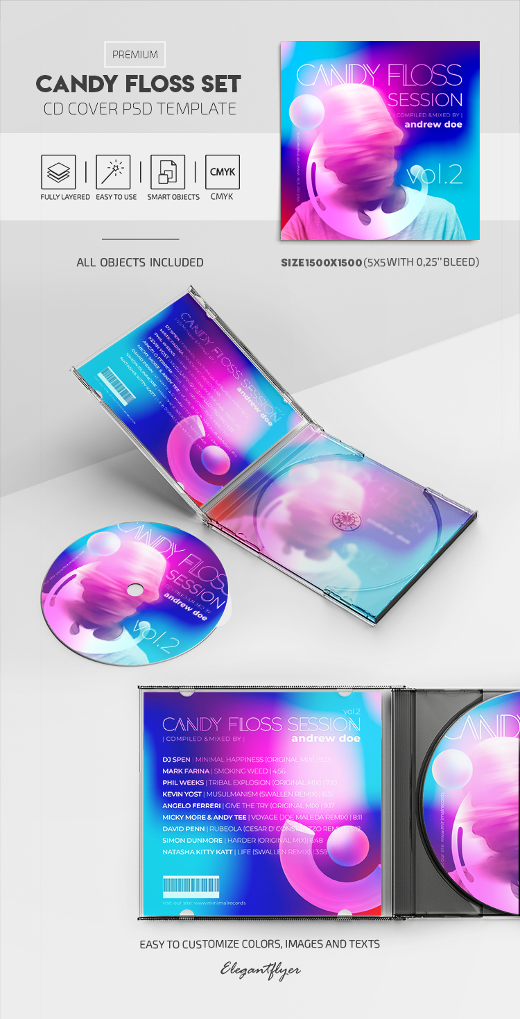 Candy Floss Set – Premium CD Cover PSD Template