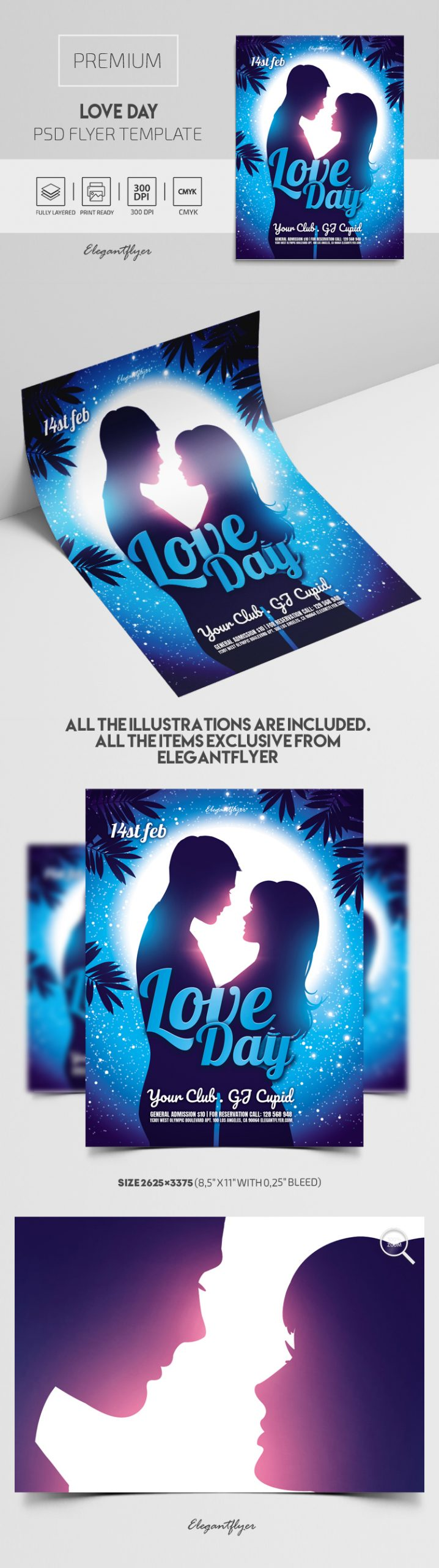 Love Day – Flyer PSD Template