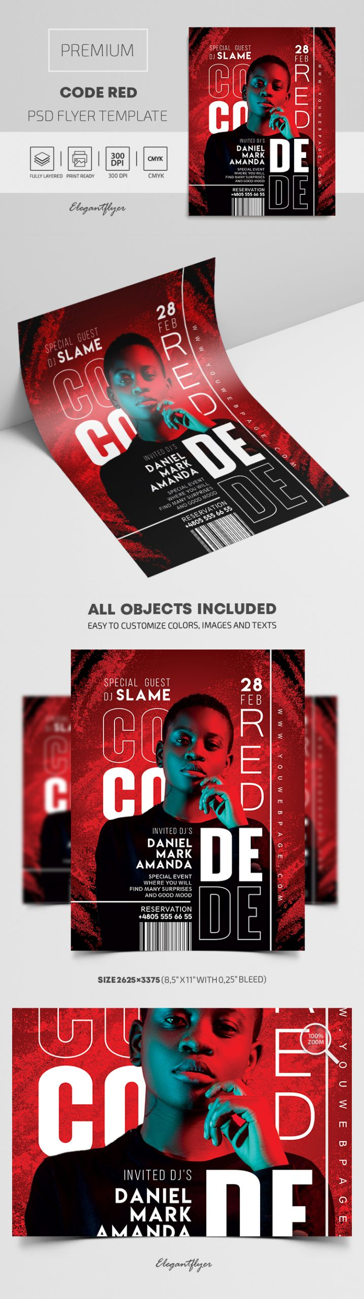 Code Red – Premium PSD Flyer Template