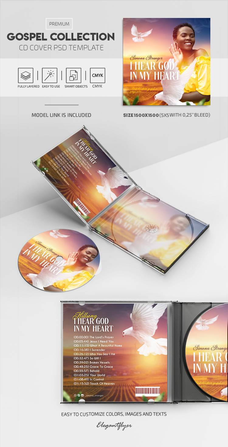 Gospel Collection – Premium CD Cover PSD Template