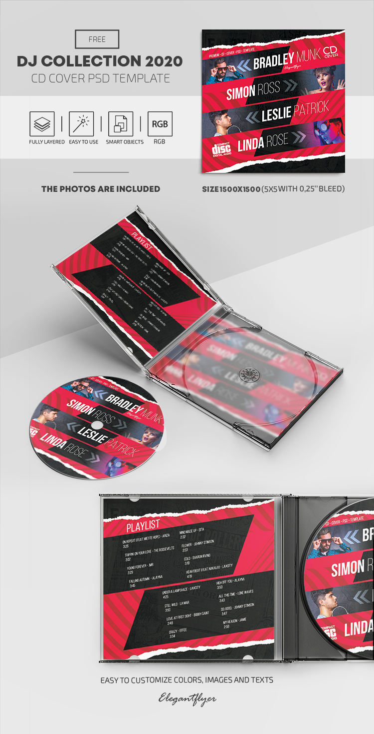 DJ Collection 2020 – Free CD Cover PSD Template