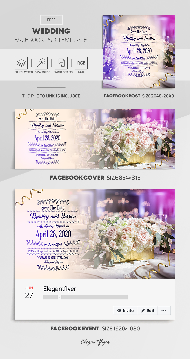 Wedding Free Facebook Cover Template In Psd Post Event Cover