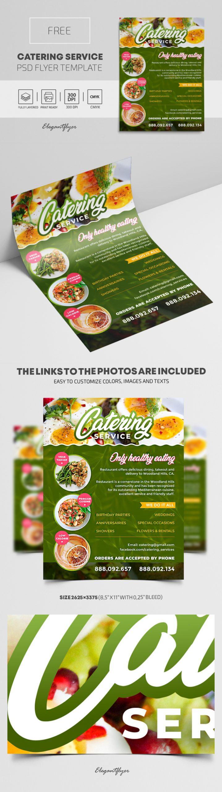 Catering Services – Free PSD Flyer