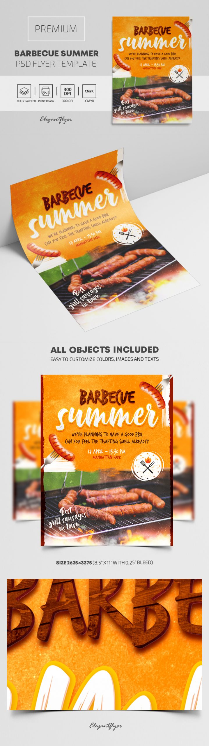 Barbecue Summer – Premium PSD Flyer Template