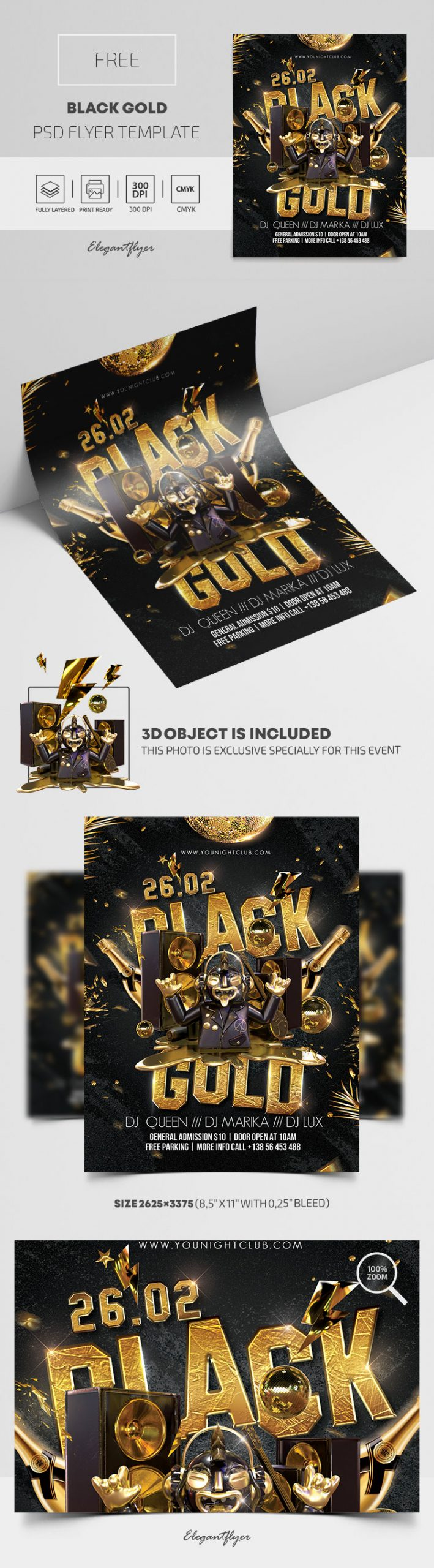 Black Gold – Free PSD Flyer Template