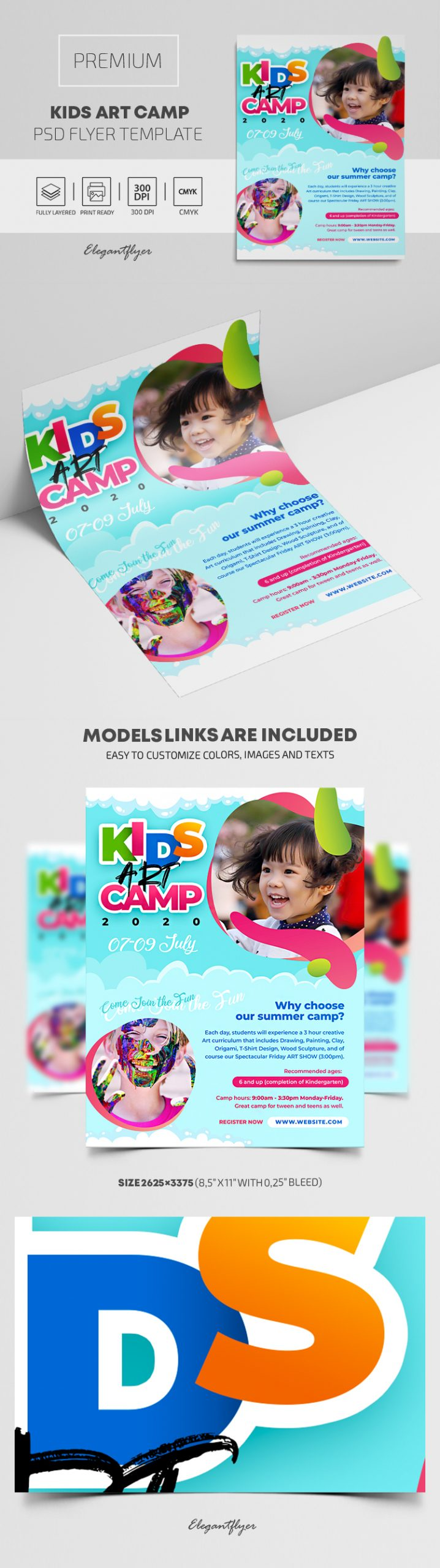 Kids Art Camp – Premium PSD Flyer Template