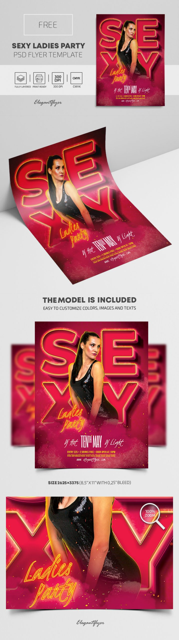 Sexy Ladies Party – Free PSD Flyer Template