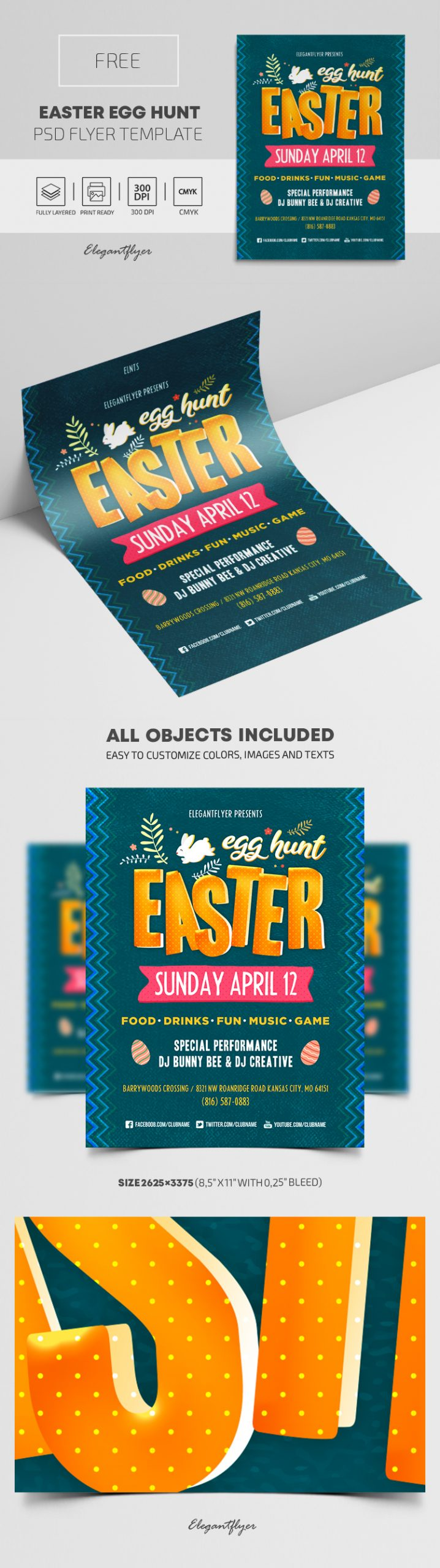 Easter Egg Hunt – Free PSD Flyer